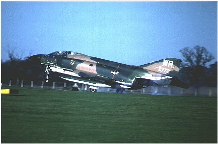 F-4D Phantom (65-0772/WR) touching down at Bentwaters May 1979.