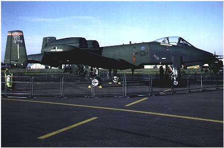A-10A (82-0655/WR) Commander's aircraft. 81st TFW Col. Roger R Radcliff