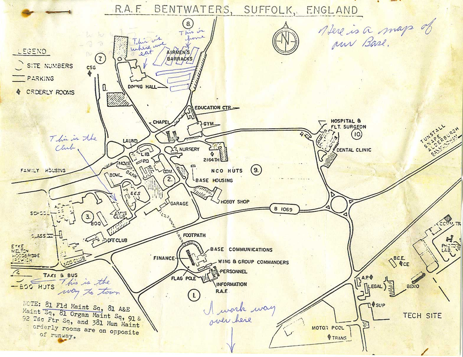 Bentwaters map - mainly domestic site