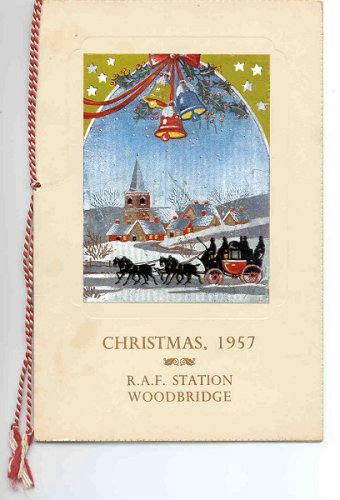RAF Station Woodbridge, Christmas Menu 1957 - cover.