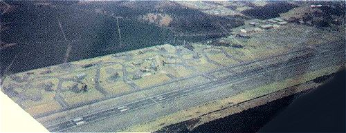 RAF Woodbridge from the air.